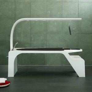 Горизонтальный душ «Vichy Superieure». Свободностоящая модель с кушеткой Unbescheiden