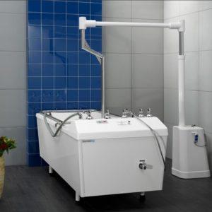 Комплексы подводного горизонтального вытяжения позвоночника со стационарным подъемным устройством на базе ванн Unbescheiden