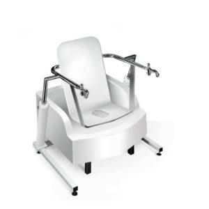 Местная сидячая ванна с подъемником, с восходящем душем. Модель 2.9-4 Unbescheiden