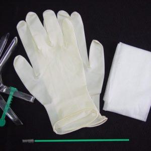 Одноразовый гинекологический набор ФЕМИНА® (зеркало по Куско прозрачное (S-М-L), цитощетка, салфетка, перчатки) стерильный