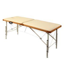 Раскладной деревянный массажный стол с регулировкой высоты Престиж