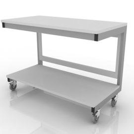 Стол лабораторный (для аппаратуры, мобильный) 202-002-2-750/850