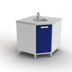 Угловой модуль с мойкой (смеситель в комплекте) 102-002 УМ