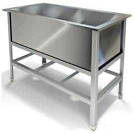 Стол специализированный (ванна котломоечная) сварной МВМБ (1000*530*850, котломоечная с одной мойкой)