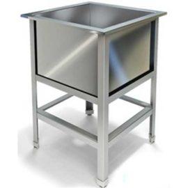 Стол специализированный (ванна моечная) сварной с одной мойкой МВМБ (530*530*850, с одной мойкой)