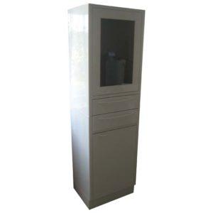 Шкаф-стойка со стеклянной и металлической дверями и двумя ящиками СЕ 207
