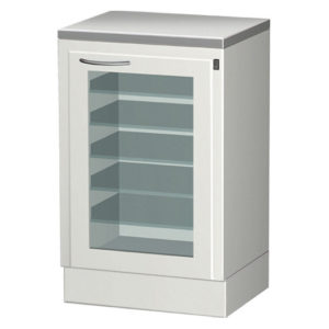 Шкаф с выдвижными полками и облучателем бактерицидным для хранения стерильного инструмента СЕ 110-2М