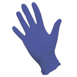 Перчатки нитриловые неопудренные текстурированные Safe&Care, M, фиолетовые, 50 пар