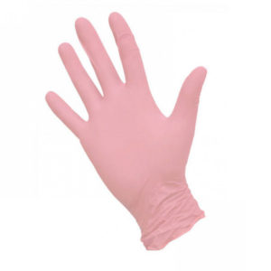 Перчатки нитриловые неопудренные текстурированные Safe&Care, XS, перламутрово-розовые, 50 пар