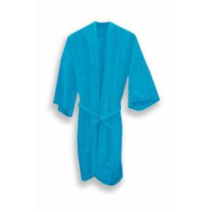 """Халат """"Кимоно"""" с рукавами СМС, белый, голубой, 10 шт"""