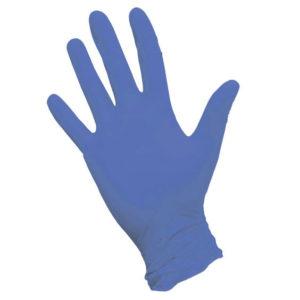 Перчатки нитриловые неопудренные текстурированные на пальцах ARDA, XS, синие, 50 пар