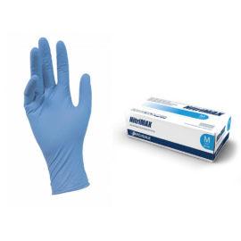 Перчатки нитриловые текстурированные на пальцах Nitrimax (Все размеры), голубые, 4.5 г, 50 пар
