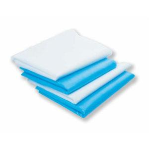 Простыни СМС Эконом 200х80 см, белые, голубые, 50 шт