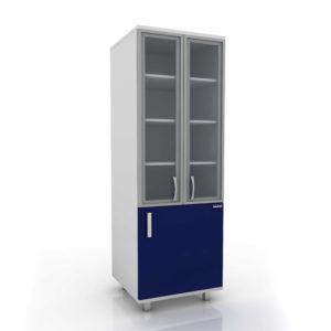 Модуль шкаф (верх стекло/низ глухие дверцы) 102-005-2А