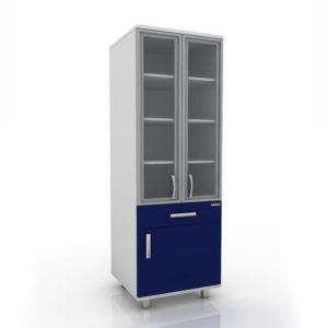 Модуль шкаф (верх стекло/низ ящик с полкой) 102-005-4А