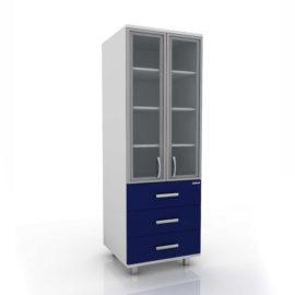 Модуль шкаф (верх стекло/низ 3 ящика) 102-005-6А