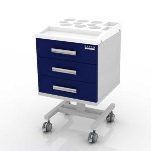 Стол врача мобильный (ассистер) с пластиковой крышкой 103-001-3 К