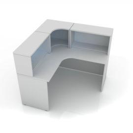 Угловой стол для поста медсестры 106-009-8