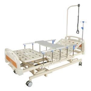Медицинская кровать E-31 ММ-3014Н-00 (3 функции) с ростоматом и полкой