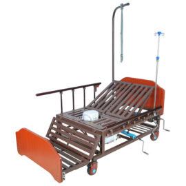 Кровать механическая Е-45А( ММ-152ПН) с боковым переворачиванием, туалетным устройством и функцией «кардиокресло»