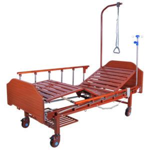 Кровать электрическая DB-7 MM-077Н (2 функции) с полкой и накроватным столиком