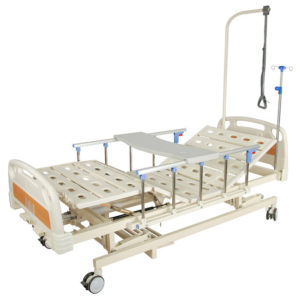 Медицинская кровать E-31 MM-26Н (3 функции) с ростоматом и полкой