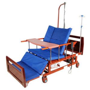 Кровать электрическая DB-11А (ММ-21, ММ-121ПН) с боковым переворачиванием, туалетным устройством и функцией «кардиокресло»
