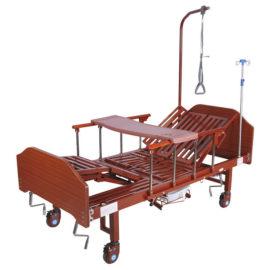 Кровать механическая YG-5 (ММ-036ПН) с боковым переворачиванием, туалетным устройством и функцией «кардиокресло»