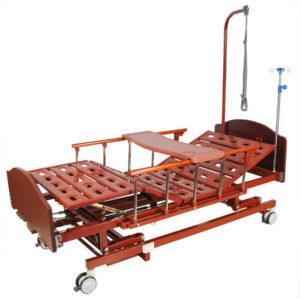 Медицинская кровать E-31 MM-026Н (3 функции) с ростоматом и полкой
