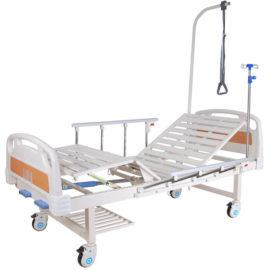 Медицинская кровать Е-8 (ММ-2014Н-00) (2 функции) с полкой и столиком