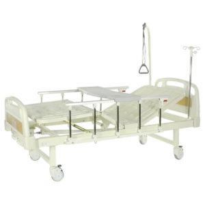 Медицинская кровать Е-8 MM-18ПЛН (2 функции) с полкой и столиком