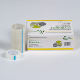 Фиксирующий рулонный пластырь на основе перфорированного прозрачного пластика - Круопласт (1.25 x 914 см) 24 шт