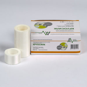 Фиксирующий рулонный пластырь на основе искусственного шелка - Круосилк (5 x 500 см) 6 шт