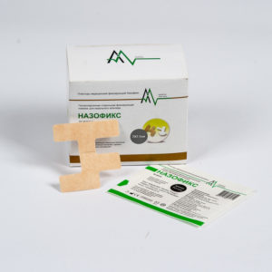 Повязка для фиксации назальных катетеров - Назофикс (7x7.1 см) 100 штук