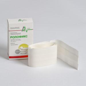 Рулонный фиксирующий пластырь на нетканой основе с сорбционной подушечкой - Ролофикс (6 x 500 см) 1 шт