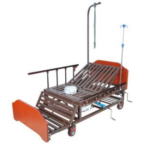 Кровать механическая Е-45А (ММ-5424Н-01) с боковым переворачиванием, туалетным устройством и функцией «кардиокресло»