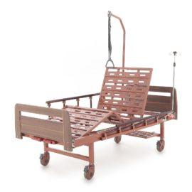 Кровать механическая Е-8 (MM-2024Н-00) (2 функции) ЛДСП с полкой и обеденным столиком
