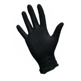 Перчатки нитриловые BI-SAFE, черные, 50 пар