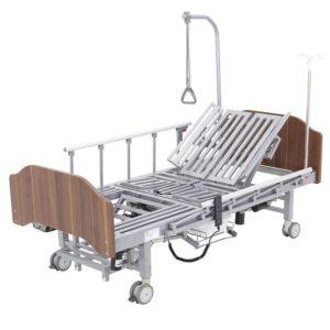 Кровать электрическая YG-3 (МЕ-5228Н-11) с боковым переворачиванием, туалетным устройством и функцией «кардиокресло» Гибридный привод