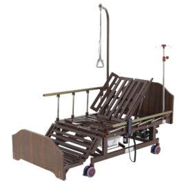 Кровать электрическая DB-11А (МЕ-5228Н-10) ЛДСП Венге с боковым переворачиванием, туалетным устройством и функцией «кардиокресло»