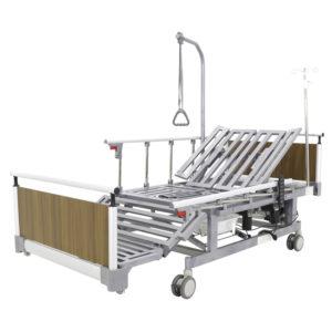 Кровать электрическая DB-11А (МЕ-5248Н-01) Алюм. с боковым переворачиванием, туалетным устройством и функцией «кардиокресло»