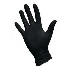 Одноразовые нитриловые перчатки, черные, 50 пар