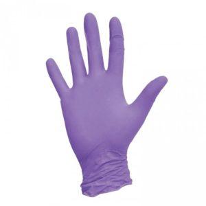 Одноразовые нитриловые перчатки, фиолетовые, 50 пар