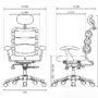 Ортопедическое кресло HARA PASCAL с эффектом массажа